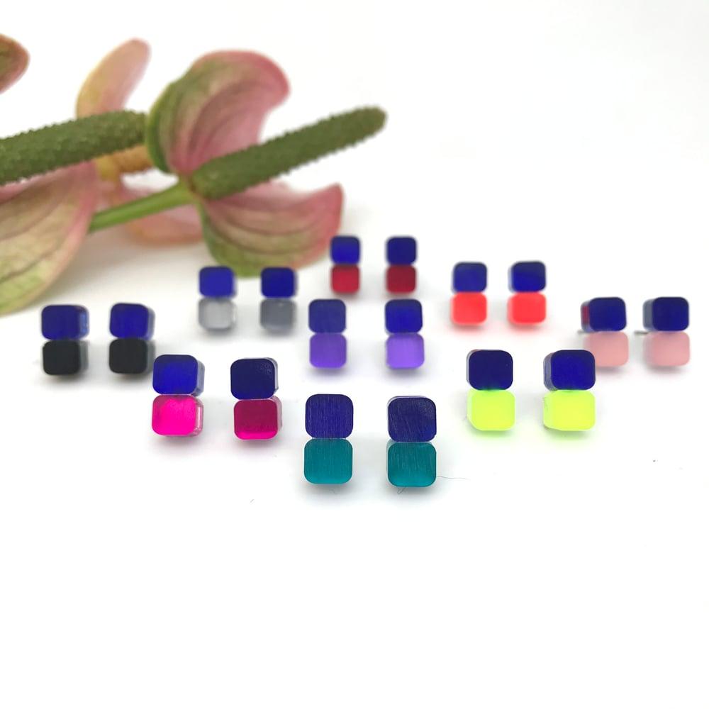 Image of Náušnice Minis Blue&Color