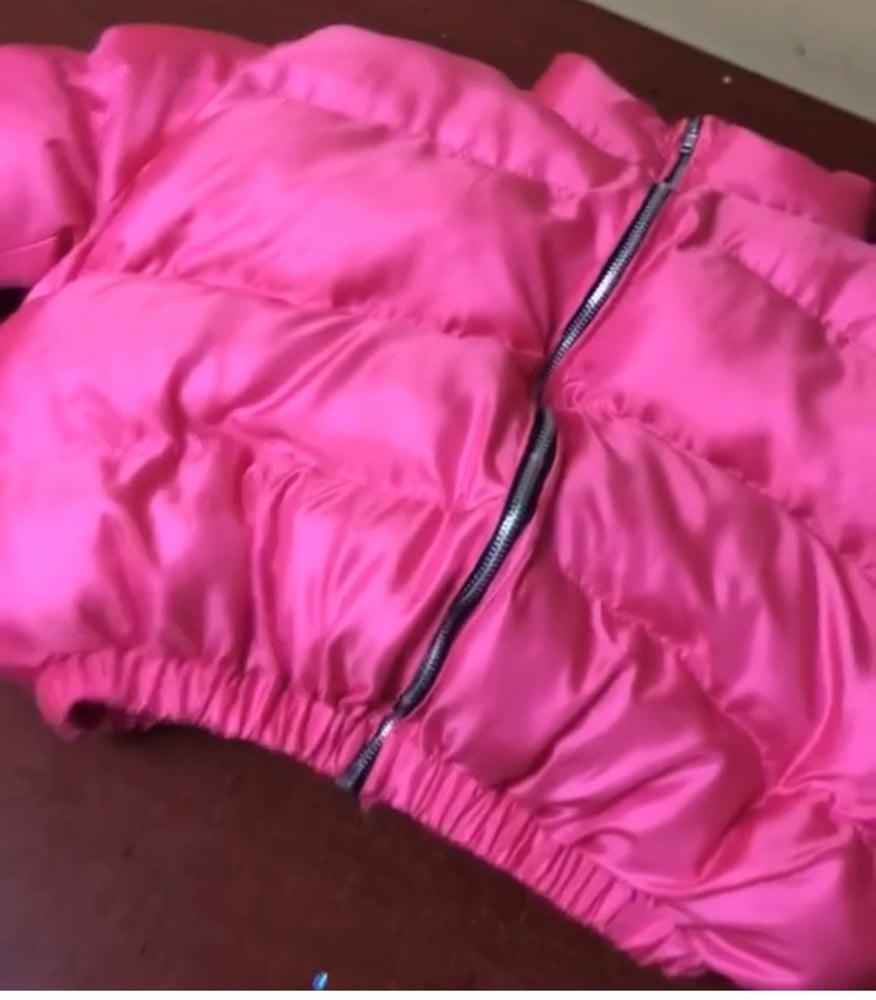 Image of Hot Pink Kay Puffy Jacket