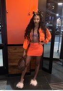 Image 3 of Safety Orange Kay Puffy Jacket