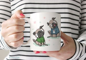 Image of Pugs in Sweaters Mug