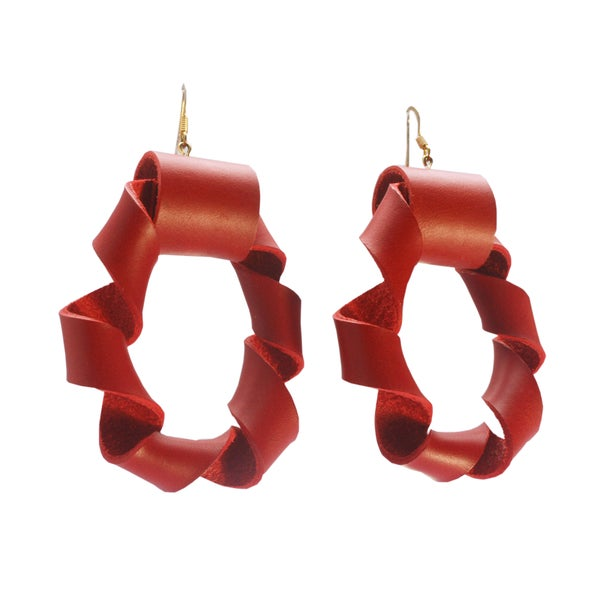 Image of Twisted Hoops - Red
