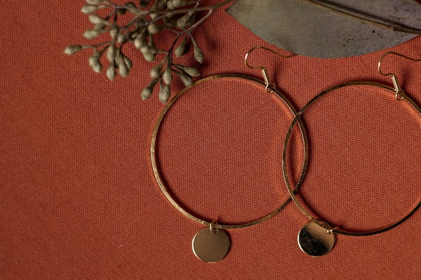 Image of The Paige - gold hoop earrings//