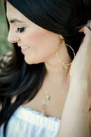 Image 2 of The Paige - gold hoop earrings//
