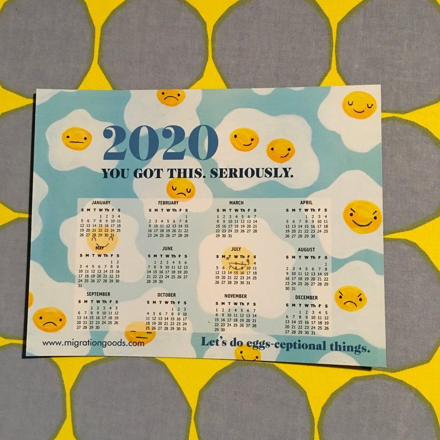 Image of 2020 calendar magnet