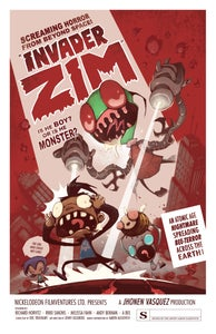 "Image of ""INVADER ZIM"" signed poster"