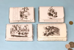 Image of Alice in Wonderland Book Page Wallets