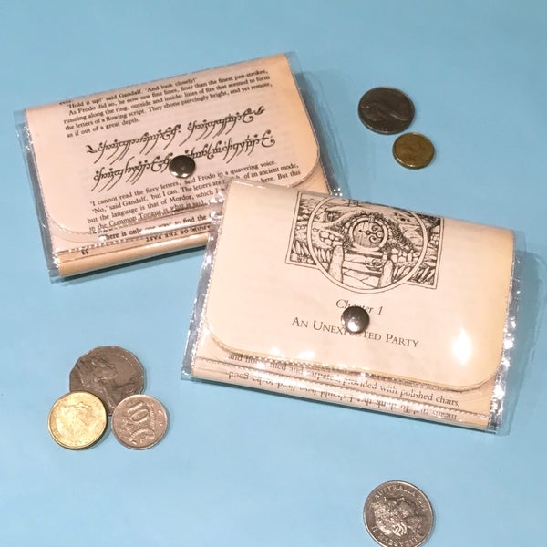 Image of Lord of the Rings Book Page Wallets