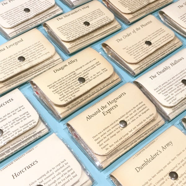 Image of Harry Potter Book Page Wallets