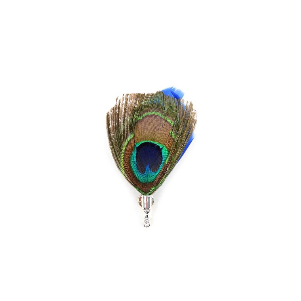 Image of Clutch Back Peacock Feather Lapel Pin