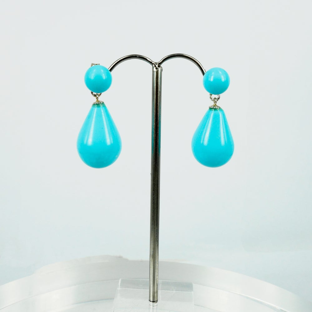 Image of m3184. Turquoise drop earrings