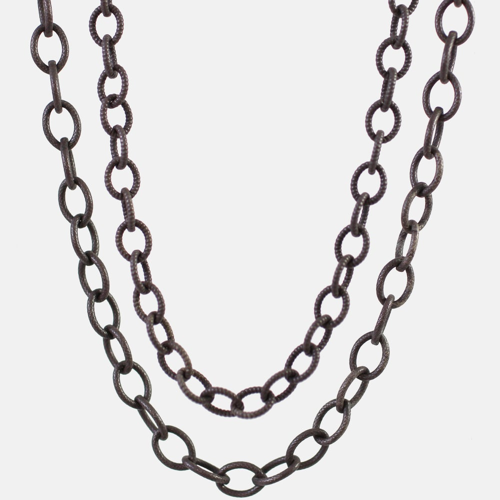 Image of Handmade Oxidized Sterling Silver Chains // Kothari