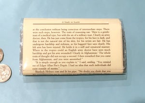 Image of Sherlock Science of Deduction Book Page Wallet