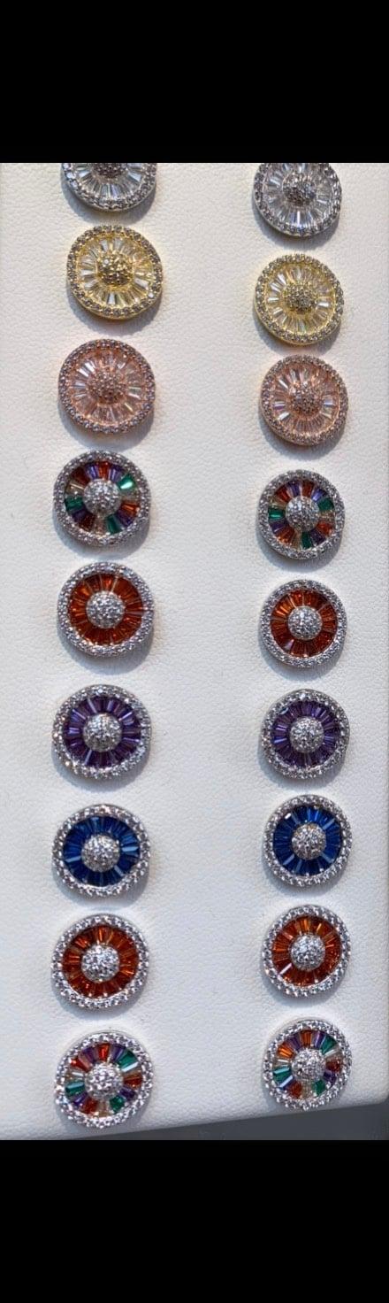 Image of Diamond baguette earrings