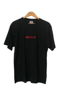 Image of DRAG TRIBAL EMBROIDERED TEE <BR> BLACK