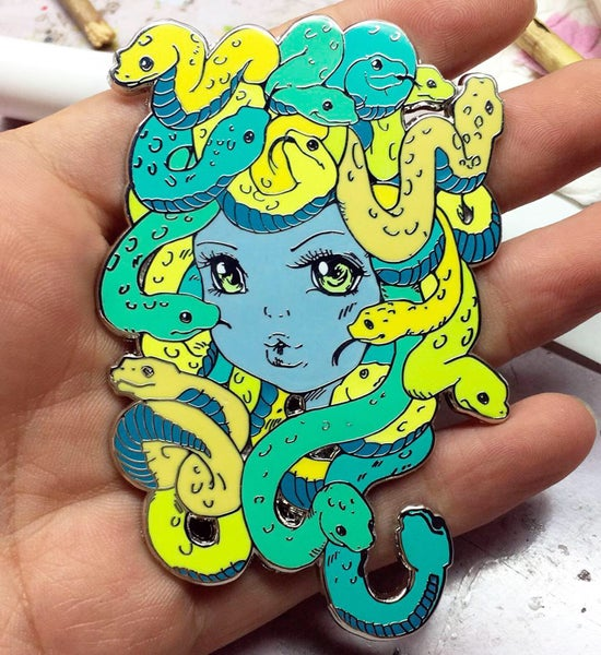 Image of Medusa Pin by Camilla d'Erricco