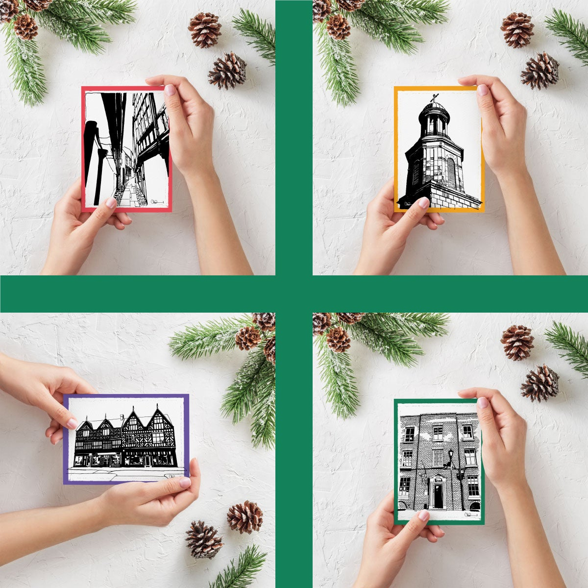 Image of Pack of 4 Christmas Cards