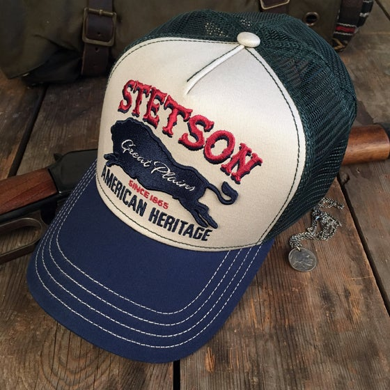 "Image of STETSON TRUCKER CAP ""GREAT PLAINS"""