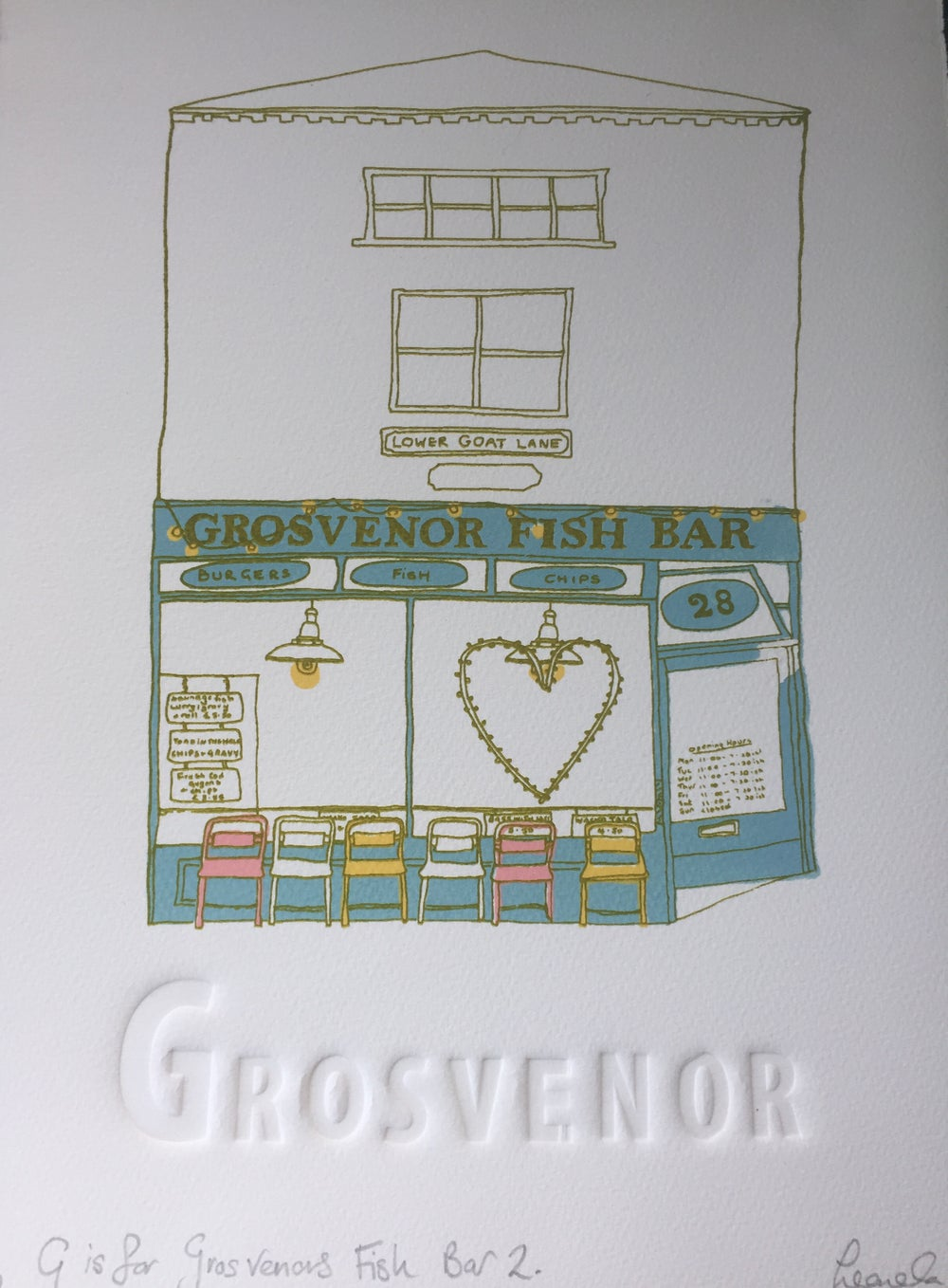 Image of G is for Grosvenor Fish Bar