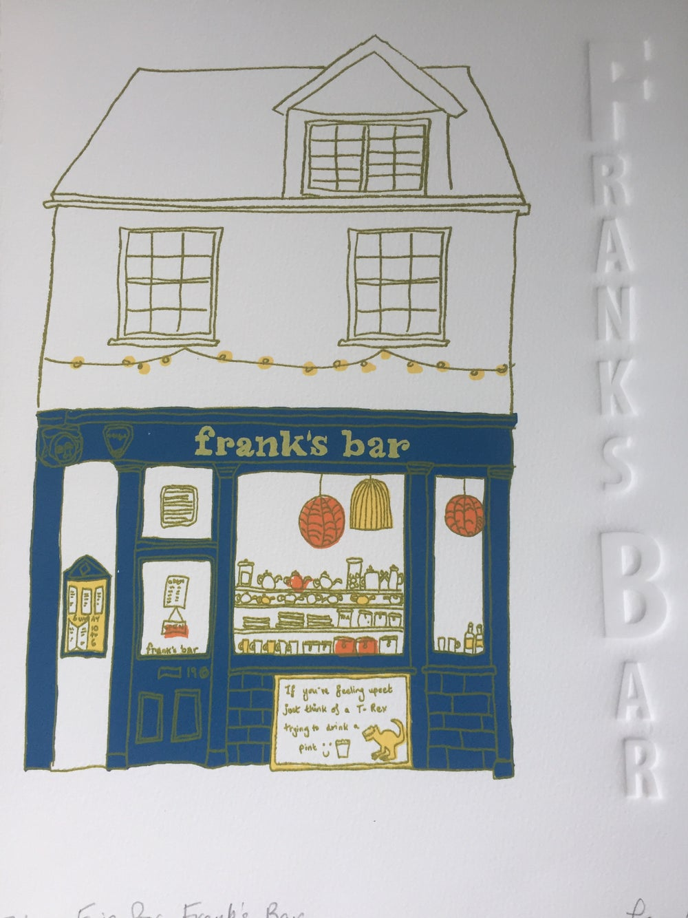 Image of F is for franks Bar