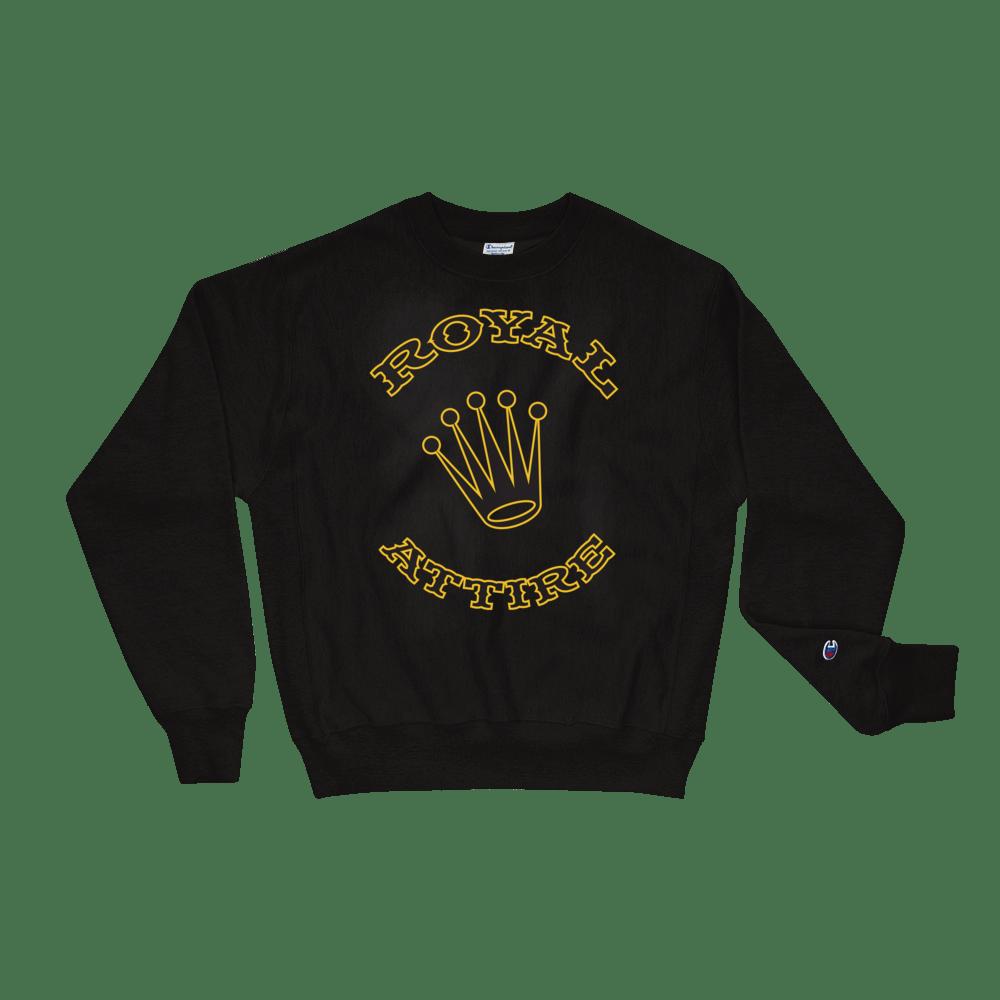 Image of Black & Gold Royal Attire Champion Sweatshirt