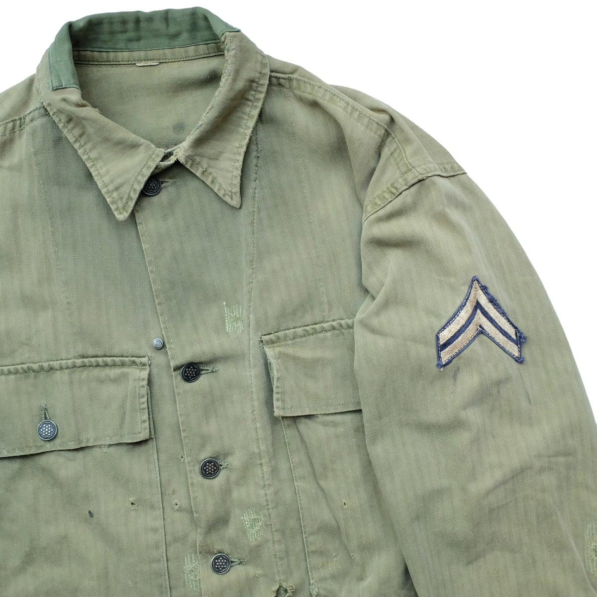 Image of 1940s Vintage M-43 HBT Jacket with Artwork/Stencil