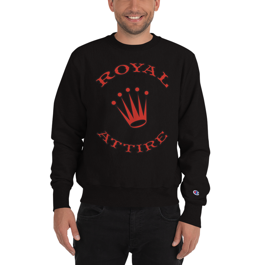 Image of Black & Red Royal Attire Champion Sweatshirt