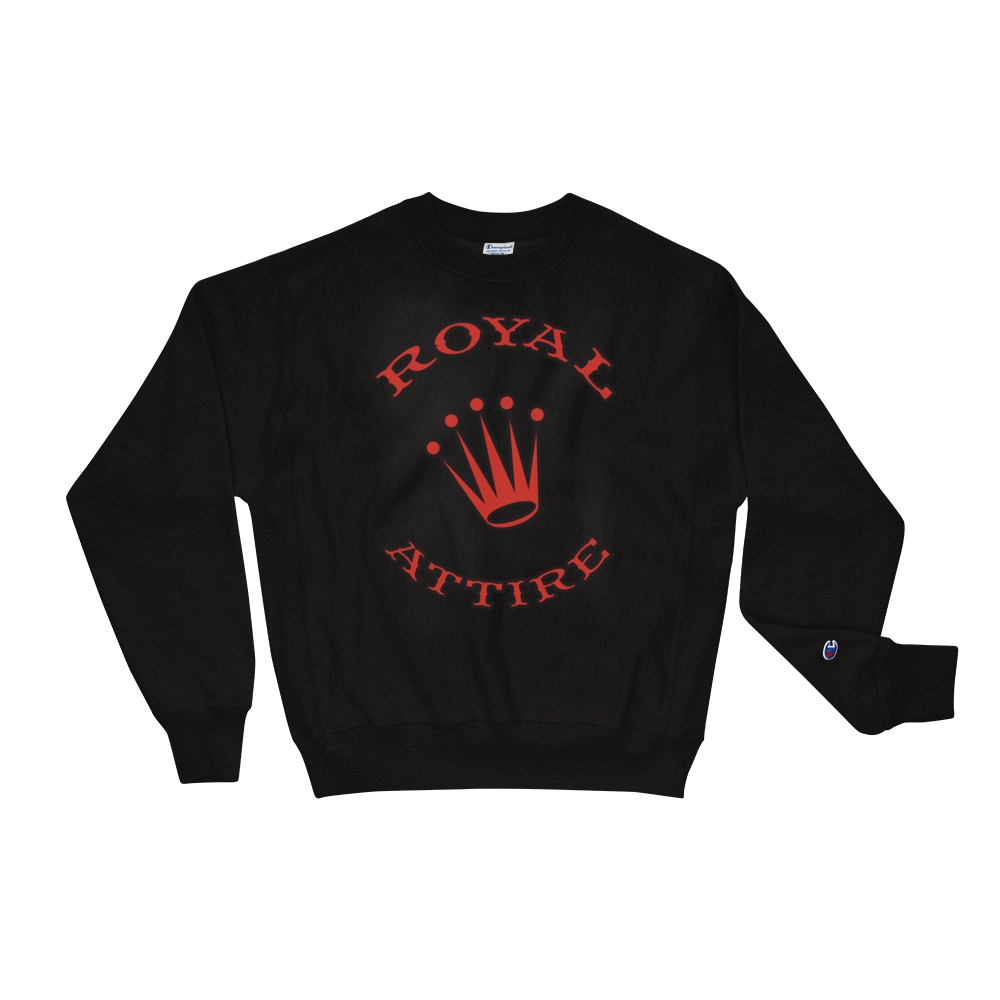 Image of Black & Red Royal Attire Champion Sweatshirt