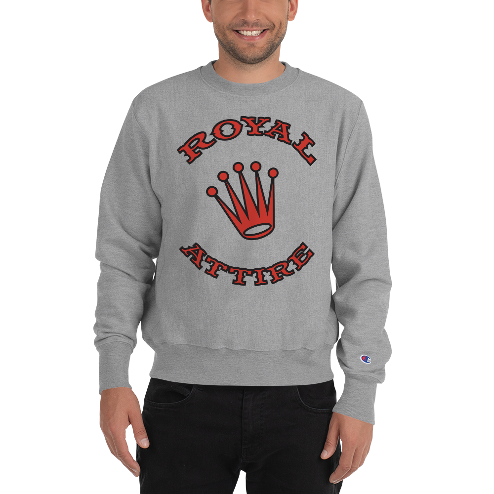Image of Grey & Red Royal Attire Champion Sweatshirt