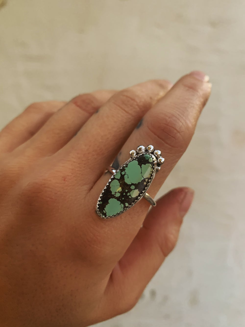 Image of Serrated Turquoise Ring