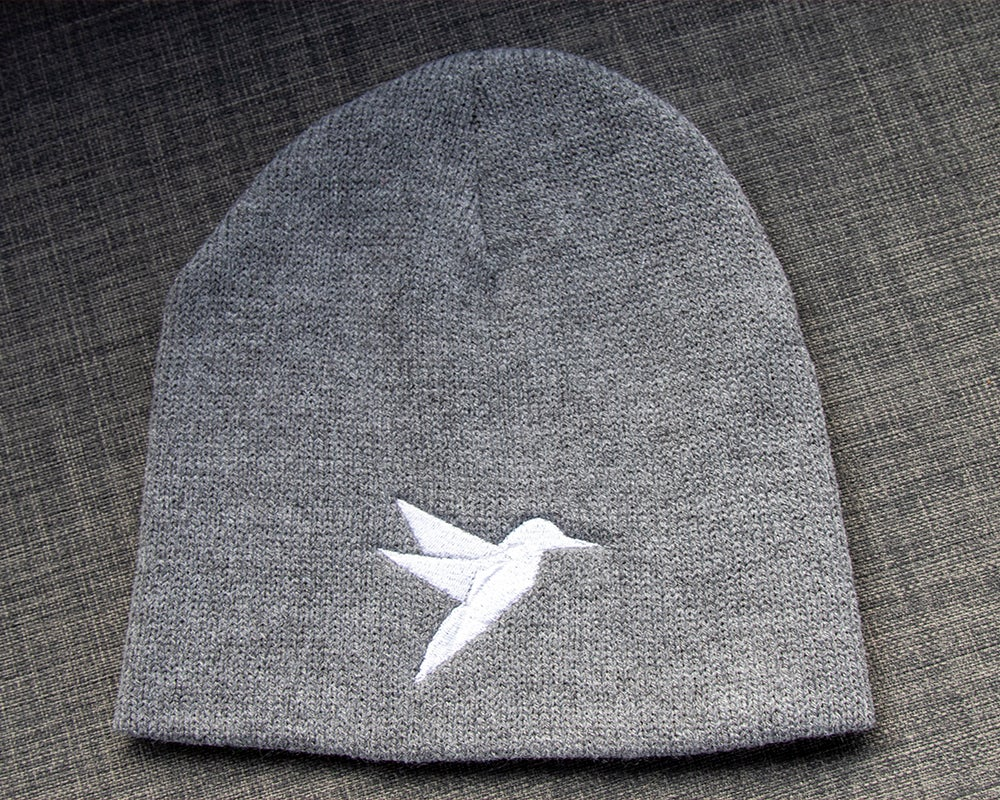 Image of White/Grey Hummingbird Beanie