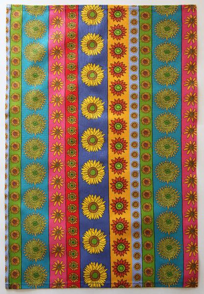 Image of Tea Towel - Sunflower Stripe - FREE SHIPPING