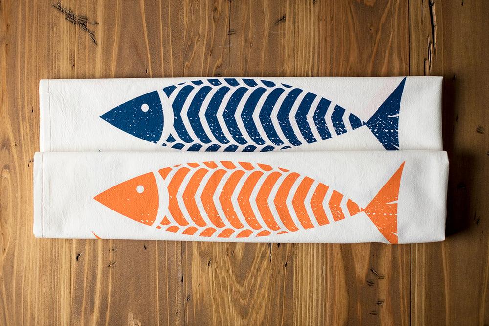 Image of Fish Kitchen Flour Sack Tea Towel - New!