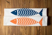 Image of Fish Kitchen Flour Sack Tea Towel - New!
