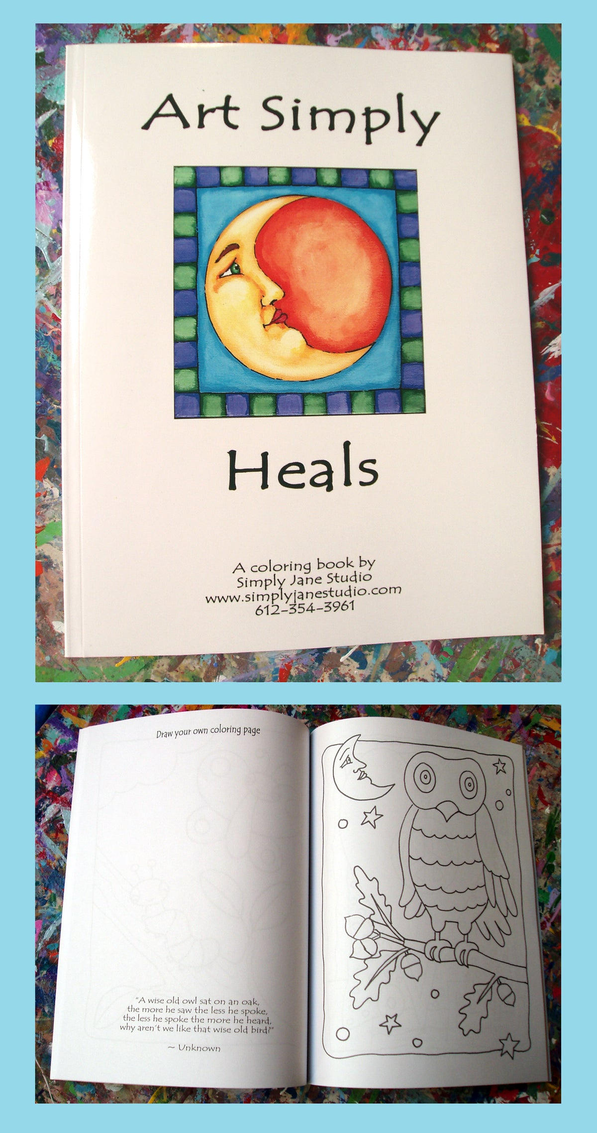 Image of Coloring Book - Art Simply Heals