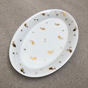 Image of Assiette ovale feuilles de chêne & glands