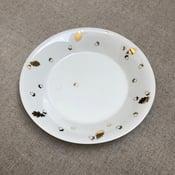 Image of Assiette ronde feuilles de chêne & glands G