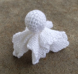 Image of Ghost, soft sculpture, handwoven