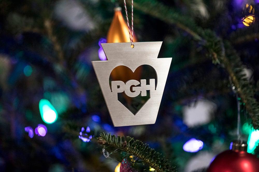 Image of PGH Steel Keystone Heart Ornaments