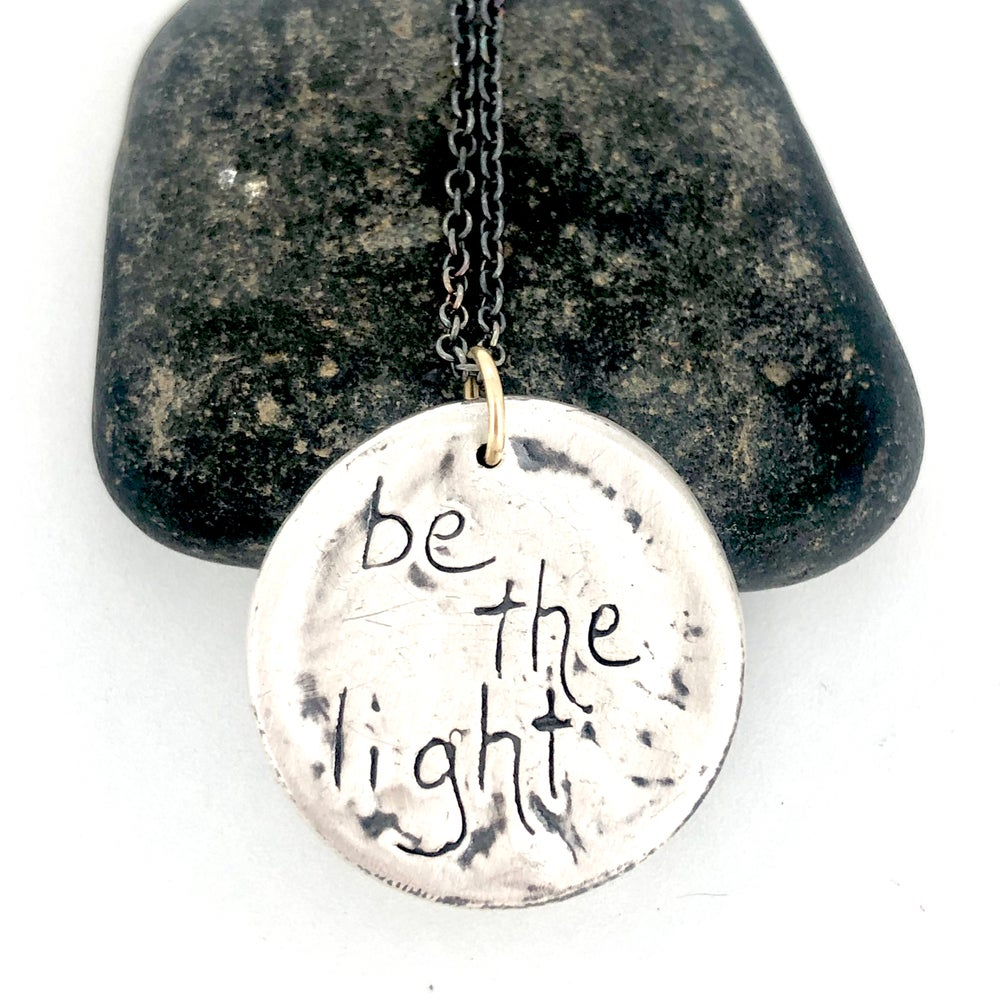 Image of Be the light necklace with sapphires