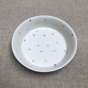 Image of Bol plat étoiles or