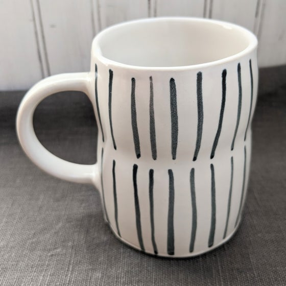 Image of Painted Pinstripe Mug
