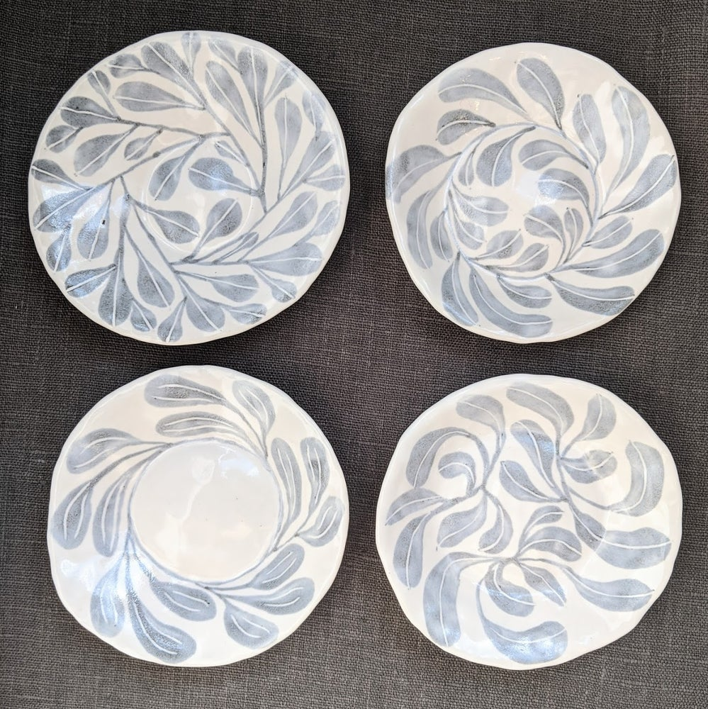 Image of Set of Four Foliage Plates