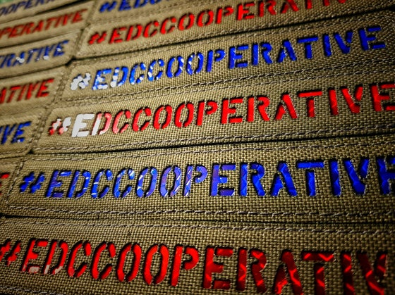 Image of #EDCCOOPERATIVE patch  Red / Blue
