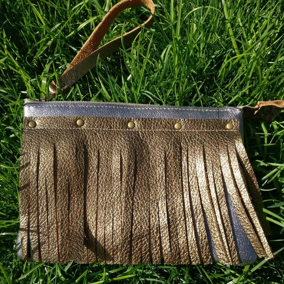 Image of Fringed wristlet