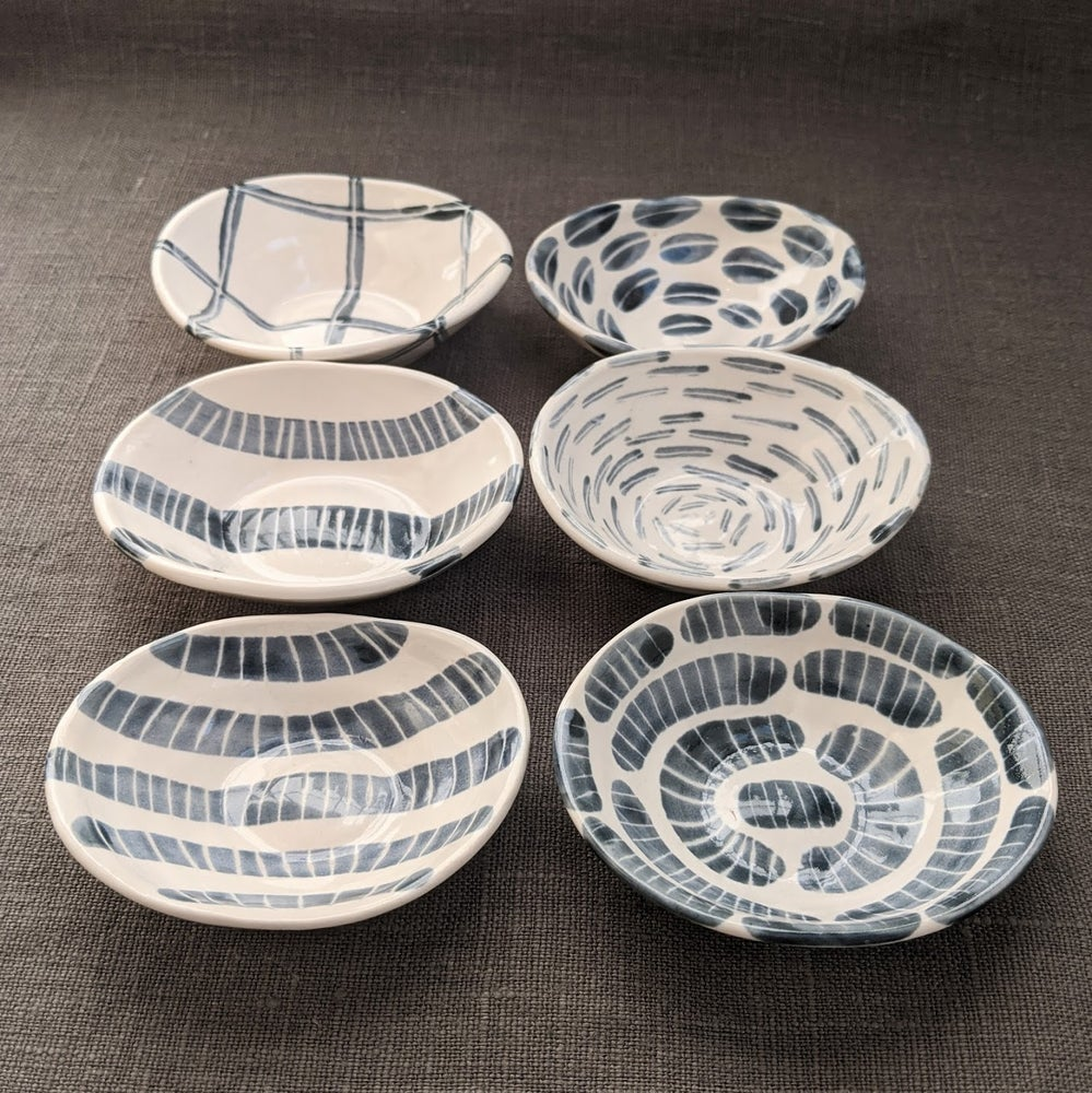 Image of Six Tiny Oval Bowls