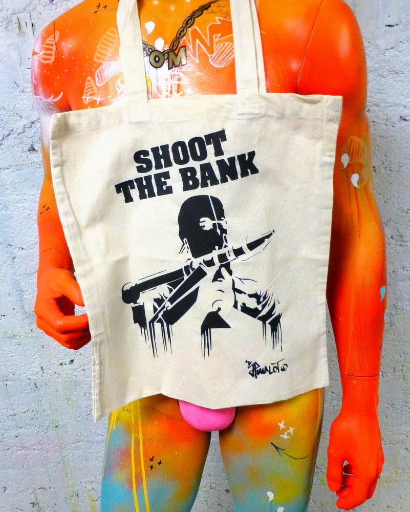Image of TOTE BAG SHOOT THE BANK