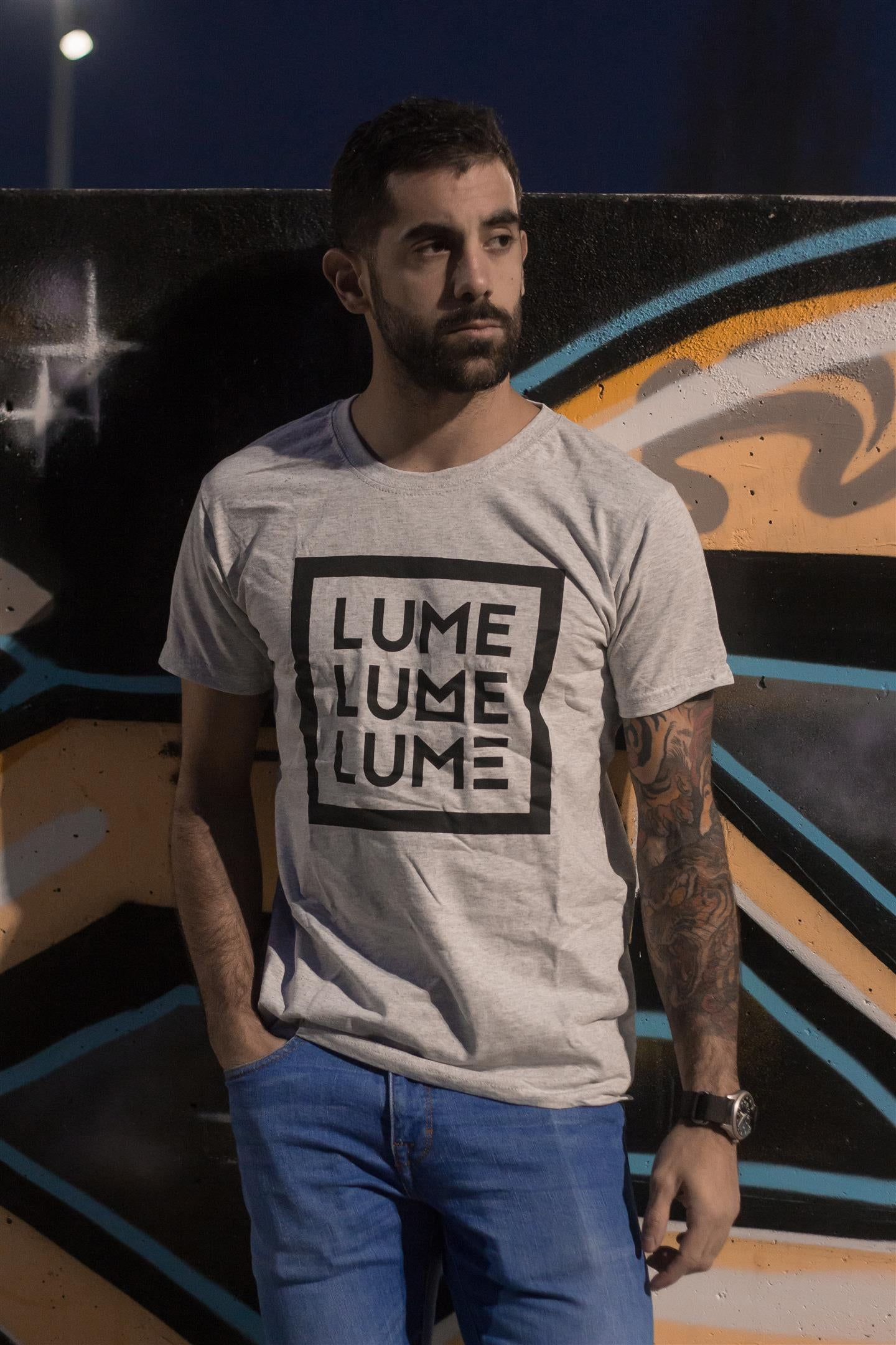 Image of CAMISOLA LUME GRIS (Opción a PACK con CD ILEGAL 2019)