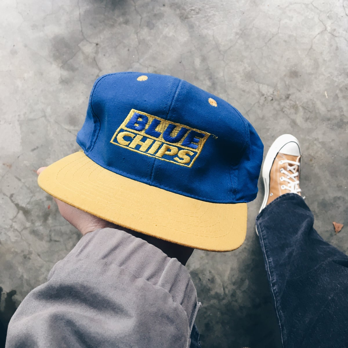 Image of Original 1994 Blue Chips Promo Hat.