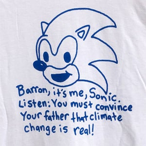 Image of Sonic's Message Shirt