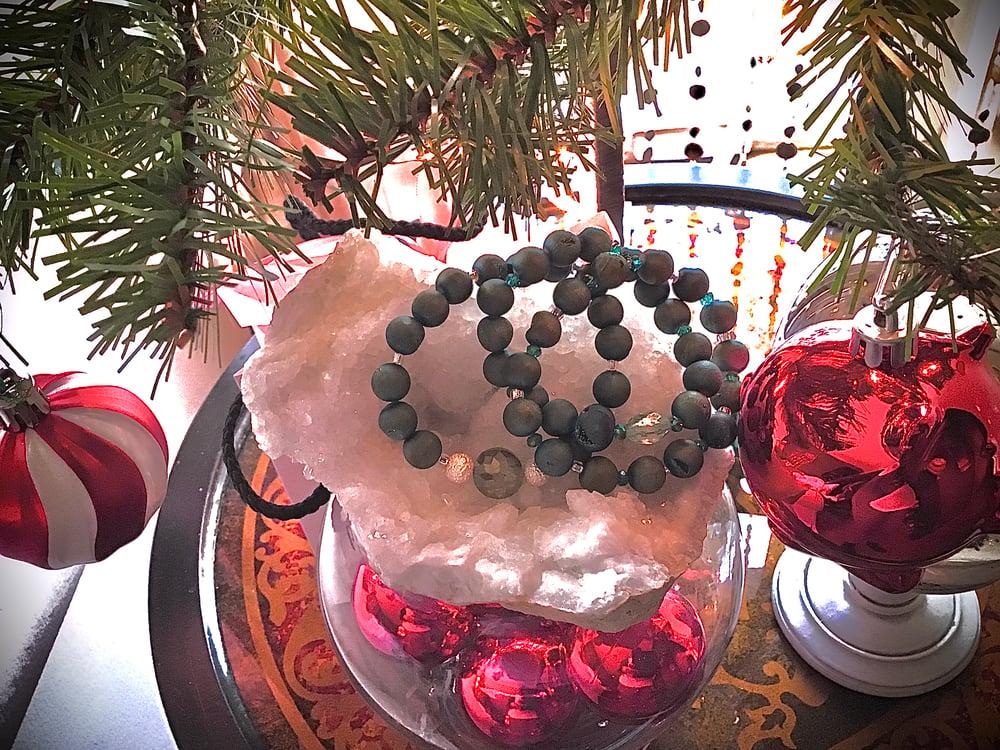 "Image of I'll have a ""blue Christmas"" Agate Geode Bracelet"